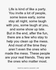 Real friends. | Heartfelt Quotes