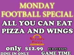 Come in for the game . Seasons Pizza, Pizza Catering, Seasons Restaurant, Eat Pizza, Liquor Store, All You Can, Dining, Game