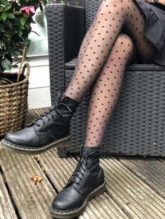 Mode Outfits, Winter Outfits, Fashion Outfits, Womens Fashion, Grunge Outfits, Dr Martens Outfit, Doc Martens, Looks Style, My Style