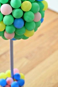 Decorative Balloon Topiary Project. A fun decoration idea for your next party.