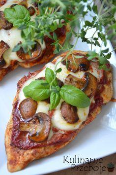 Filety piersi z kurczaka a'la pizza Healthy Dishes, Healthy Recipes, My Favorite Food, Favorite Recipes, Snacks Für Party, Food Photo, Food Hacks, Italian Recipes, Cooking Recipes