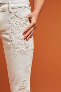 Slide View: 4: Pilcro Hyphen Mid-Rise Embroidered Jeans