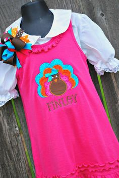 Personalized Turkey Thanksgiving Dress and by sewglamourouscreatio, $30.00