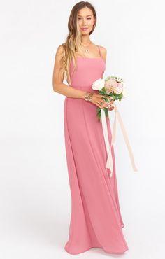 Blush and Pink Bridesmaid Dresses for Weddings Pink Bridesmaid Dresses Short, How Many Bridesmaids, Wedding Dresses, Mumu Wedding, Full Length Skirts, Chiffon, Tie, Rasberry Sorbet, Bodies