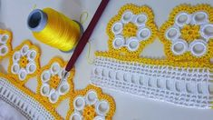 This post was discovered by mo Crochet Edging Patterns, Crochet Borders, Doily Patterns, Baby Knitting Patterns, Tatting Necklace, Viking Tattoo Design, Crochet Videos, Love Crochet, Crochet Doilies