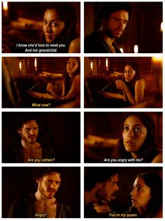 Robb Stark and Talisa Maegyr. THIS SCENE <3