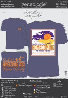 Clemson KD's 2013 Homecoming Shirts
