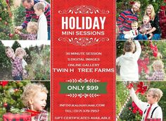 Our #treefarm #minisession #familyphotography starts the day after thanksgiving! $99 #sale #shoplocal #Bloomington #indiana #indianapolis 10-6pm... come it and play at Twin H Tree Farms Inc. and JealousyJane Couture! http://ift.tt/2oZrWrO #christmas #holidaytradition #kidfriendly #engagementphotos