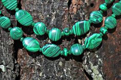 Emerald Green Malachite Necklace Pantone 2013 by frenchiesfinds, $38.00
