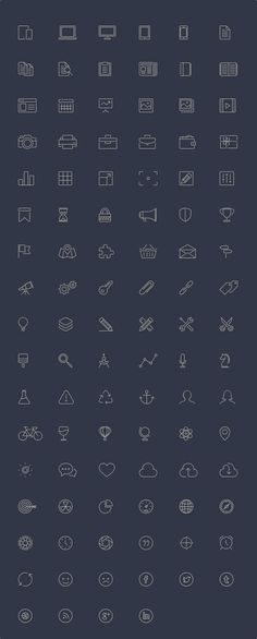 100 Free Line-Style Icons, #AI, #Free, #Graphic #Design, #Icon, #Outline, #Resource, #SVG, #Vector