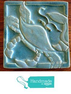 Dancing Crab Tile from Littoral Drift http://www.amazon.com/dp/B01D90EXKA/ref=hnd_sw_r_pi_dp_-UD8wb045G9MK #handmadeatamazon