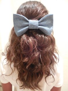 DIY Sewed Jean Bow Tutorial // How'd You Make That? Blog