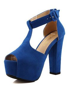 Blue Peep-toe Crude Sandals$47  http://www.udobuy.com/goods-10625.html. Enjoy 25%OFF for the coming Mother's Day! http://www.udobuy.com/article.php?id=44