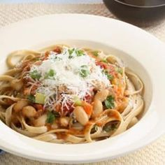 Do you love spaghetti bolognese? Try this Bean Bolognese recipe for dinner tonight! Fiber-rich beans stand in for the beef and pork in this surprisingly rich-tasting vegetarian take on pasta Bolognese. Without the meat, the dish has only a third of the fat and 80 percent less saturated fat. To make the perfect meal, serve with a peppery arugula salad and warm, crusty Italian bread. @EatingWell