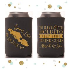 State or Province  Wedding Can Cooler 36  by SycamoreStudiosCo