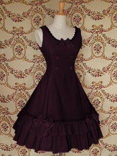 Elegent Sleeveless Cotton Classic Lolita Dress