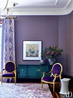 Unusual tones, like orchid or chartreuse, are not for everyone but can dramatically transform a room.
