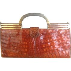 This Extra Large Alligator Handbag Screams Art Deco And Could Have In Fact Been