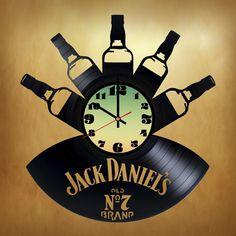 Jack Daniel's OLD №7 Handmade Vinyl Record Wall Clock