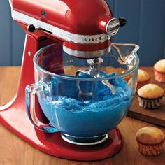 KitchenAid Stand Mixer Glass Bowl Attachment - So they can see the fun things we are baking be mixed together.