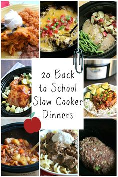 20 Back to School Slow Cooker Dinners. Easy meals for getting back into the school routine! #easymeals