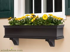 The Lancaster Black Direct Mount Window Box - Estate Collection Window Boxes - Window Boxes - Windowbox.com