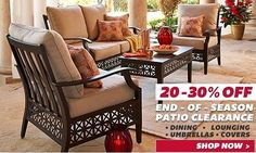 Online-Only Clearance! 20 to 30% Off Select Patio Furniture: Online-Only Clearance! 20 to 30% Off Select Patio Furniture #coupons #discounts