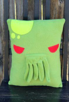 Cthulhu, h.p. lovecraft, pillow, plush, cushion, throw pillow