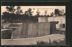 old postcard: AK Leugenboom, deutsches Küstengeschütz der Lange Max
