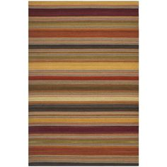 Safavieh's Striped Kilim collection is inspired by timeless designs crafted with the softest wool available.