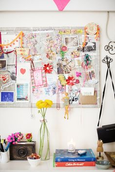 I love the idea of having a physical inspiration board in my room.