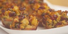 Cranberry and Pancetta Stuffing Cups