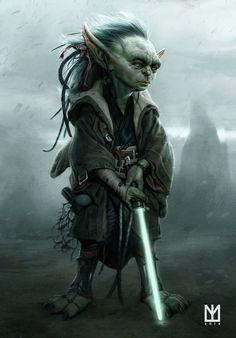 Young Yoda Jedi-Master art by Marco Teixeira