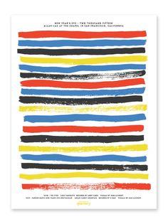 Allah-Las NYE Silk Screen Print by Robbie Simon
