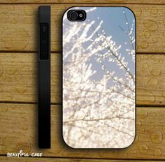 Icy Lace Sparkle Bokeh White Blue Sky for iPhone 4/4s/5/5s/5c, Samsung Galaxy s3/s4 case