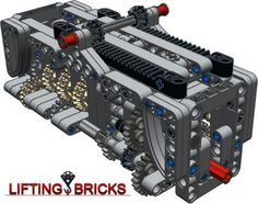 LEGO MOC MOC-1152 Gearbox 6 speed N+R - building instructions and parts list.