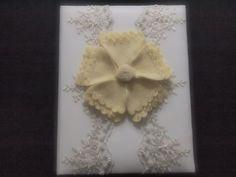 Wedding Memory Album Yellow Ivory Lace peony flower choose your colors #weddingmemoryalbum by ArtisanFeltStudio, $49.00