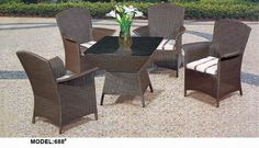 round table with four chairs www.facebook.com/pages/Foshan-Fantastic-Furniture-CoLtd                                                         www.ftc-furniture.com