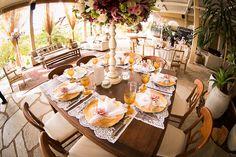 Casamento rústico-chique - Mesas da festa Foto Jeffrey Oakar