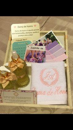Caixa convite das avós damas de honrra