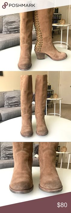 """GUC Sam Edelman Nelle Boots Super cute brown suede Sam Edelman boots is the style Nelle. They're in very good condition with  minimal signs of of wear primarily on the bottom sole and a little on the toe but it's not noticeable when wearing. These are absolutely stunning!  About 16.5""""'tall with a 3"""" heel and a 13"""" calf opening. Sam Edelman Shoes Winter & Rain Boots"""