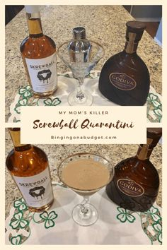 My Mom's Screwball Quarantini  Who doesn't love a new cocktail for quarantine. This concoction of peanut butter whiskey and baileys is the perfect drink for a night in.    #blogger #quarantine #quarantini #quarantinecocktail #martinirecipes #martini #martinieasy #martinirecipeeasy #howtomakeamartini #screwballwhiskey