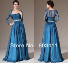 2014 New Two-Pieces A-Line Evening Gown Bolero Dress Mother Of The Bride Dress  US $169.00