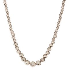 Another great find on #zulily! Sterling Silver Graduated Ball Necklace #zulilyfinds