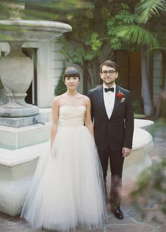 Amsale wedding dress   photo by The Weaver House   design by Bash, Please   100 Layer Cake