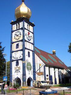 Hundertwasserkirche Bärnbach, Österreich -  August 2015