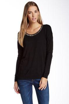 Jeweled Necklace Sweater