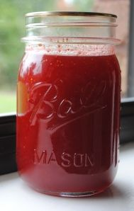 strawberry fig preserves and jam- even if you don't like figs you will like this
