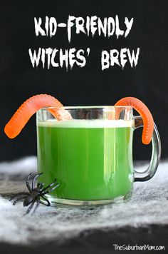 This Kid-Friendly Witches' Brew is the perfect Halloween Punch for your Halloween party. Sweet and sour with just a bit of creepy.