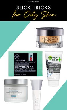 Slick Tricks for Oily Skin featuring The Body Shop Blotting Tissues and Skin Primer Matte It.